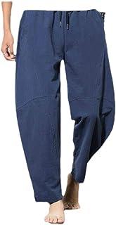 Macondoo Mens Juniors Loose Plus Size Harem Trousers Wide Leg Pants