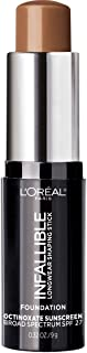 L'Oreal Paris Makeup Infallible Longwear Shaping Stick Foundation, 411 Chestnut, 1 Tube, 0.32 Ounce