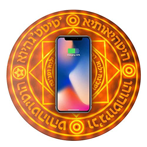 YNITJH Cargador inalámbrico,Carga rápida para iPhone 11/11 Pro / 11 Pro MAX/XS/XS MAX/XR/X / 8, marrón
