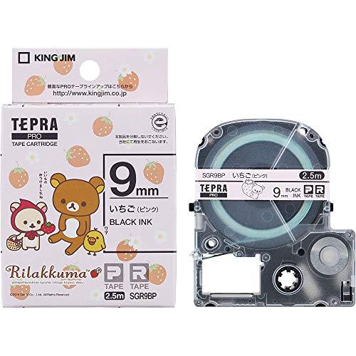 テプラ PRO用テープカートリッジ リラックマラベル いちご ピンク SGR9BP [黒文字 9mm×2.5m]