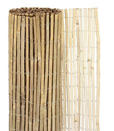 Windhager Sichtschutzmatte Mitake, Zaunmatte aus Bambus, Bambusmatte, Sichtschutz-Zaun aus naturbelassenen Bambus, Blickschutz, 180 x 300 cm, 06689, natur