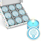 Majestic Zen's Set of 9-Baby Shower Party Favors Candles for Boys | Baby Shower Favors for Guests Boy | Baby Shower Favors for Boys | Blue Baby Shower Party Favors for Boy | Boy Baby Shower Favors