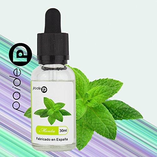 30ML Paide Premium E-Liquid - Sin nicotina - Bote de cristal con pipeta - Líquido para cigarrillo electrónico - 50VG 50PG (Menta)