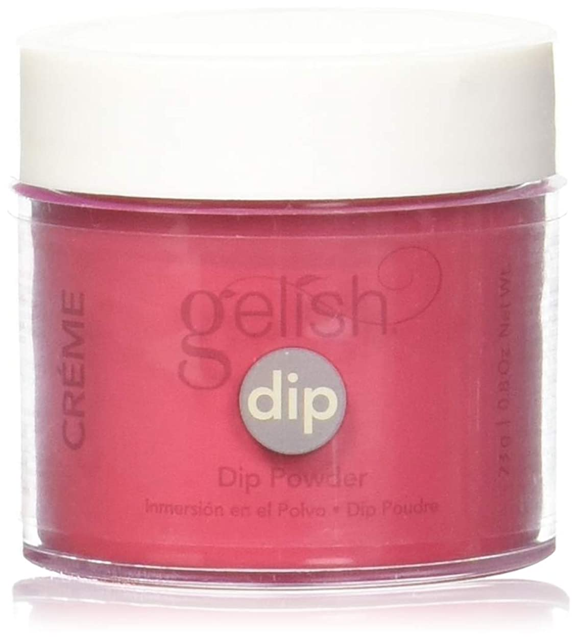 関係試験山岳Harmony Gelish - Acrylic Dip Powder - Hot Rod Red - 23g / 0.8oz