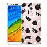 Hülle für Xiaomi Redmi 5 Plus , IJIA Transparente Oreo Kekse TPU Weich Silikon Stoßkasten Cover Handyhülle Schutzhülle Handyhüllen Schale Case Tasche für Xiaomi Redmi 5 Plus (5.99')