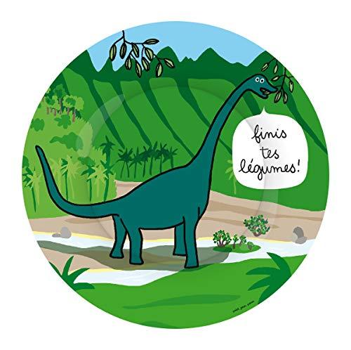 Petit Jour Paris - Plato de postre Dinosaurios Brontosaurus - perfecto para el postre!