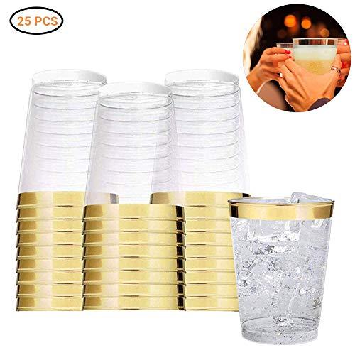 NIUPAN 25 stuks/set transparant plastic wegwerp wijnglas jelly cup met Phnom Penh milieu partij verjaardag bruiloft benodigdheden |wegwerp party servies