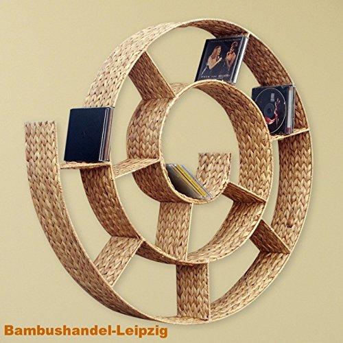 BIHL CD-Regal Schnecke WANDREGAL WASSERHYAZINTHE Natur Regal Schneckenform 81 cm