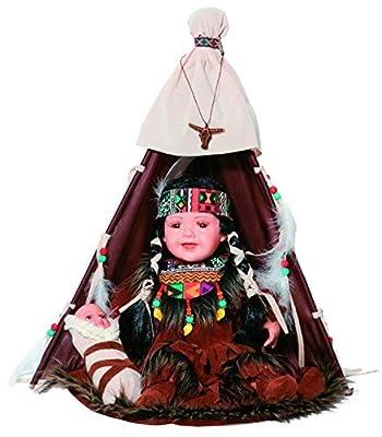 "Golden Keepsakes Collectible Heirloom Native American 16"" Porcelain Doll Lomasi"