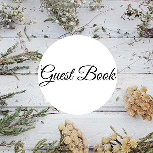 Preisvergleich Produktbild Guestbook: 200 pages / noble look / for hotel,  AirBnB,  apartment,  bed and breakfast,  Visitor guesthouse,  hostel,  vacation house,  refuge,  B&B Holiday,  ... x 21 cm (21 x 21 cm) Beautiful Page Design