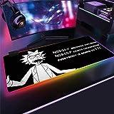 YYXPDD Rick and Morty - Alfombrilla de ratón para videojuegos (4 mm, XXLRGB, 8 modos de iluminación, teclado gamer (Anime6,700 x 400 x 4 mm)