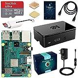 LABISTS Raspberry pi 3b + Starter Kit con Micro SD de 32GB Clase 10, 5V 3A Tipo C con Interruptor, 2 Radiadores, Cable HDMI, Lector de Tarjetas, Caja de Calidad