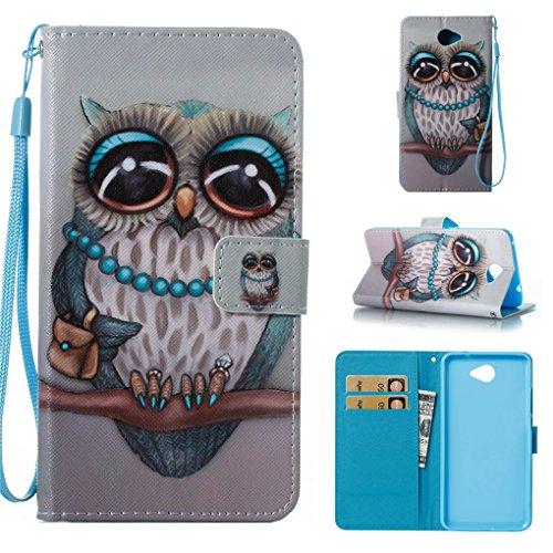 Huawei Y7 2017 Hülle, SATURCASE Schönes Muster PU Lederhülle Magnetverschluss Flip Brieftasche Handy Tasche Schutzhülle Handyhülle Hülle mit Standfunktion für Huawei Y7 2017 (Muster-12)