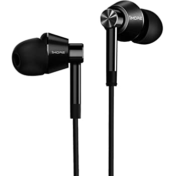 1MORE Dual Driver in-Ear Earphones Hi-Res Comfortable Headphones with Tangle-Free Cable, Noise Isolation, High Resolution, in-Line Control for Smartphones/PC/Tablet - Black