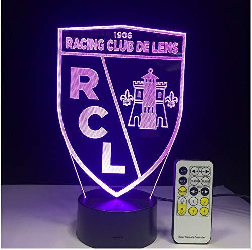 Rc Lens Led Acrylique Léger Table Veilleuse 7 Couleurs Changer Avec Toucher 3D Nuit Lampe De Nuit Décoration De Noël Cadeau