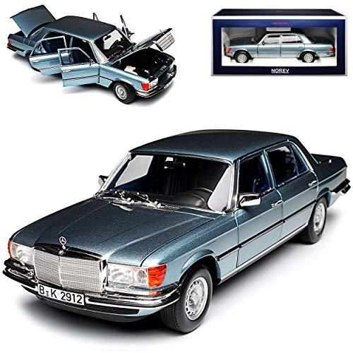 Mercedes-Benz S-Klasse W116 450 SEL 6.9 1976 Blau Grau Metallic 1972-1980 1/18 Norev Modell Auto