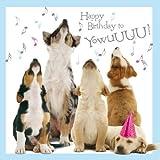 Hunde Karte - Howling Pups - Grußkarte