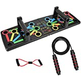 Push Up Board, Best Push Up Board Kit with Tension Rope, 14 in 1 Push Up System, Foldable and Portable Push Up Stand Home Gym Bar Set Strength Training for Full Body Workouts