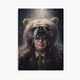 Brewsterty Dwight Schrute The Office Bear Head (Rainn Wilson) (16