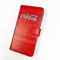 iPhone 12 ケース [デザイン:D.ビックロゴ(ウッド)/マグネットハンドあり] Coca-Cola コカ コーラ アイフォン12 iPhone12 ip12 手帳型 スマホケース スマホカバー 手帳 携帯 カバー