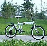 SHIN 20 Pulgadas Plegable De Aluminio Bicicleta De Paseo Mujer Bici Plegable Adulto Ligera Unisex Folding Bike Manillar Y Sillin Confort Ajustables,6 Velocidad,Capacidad 90kg / A