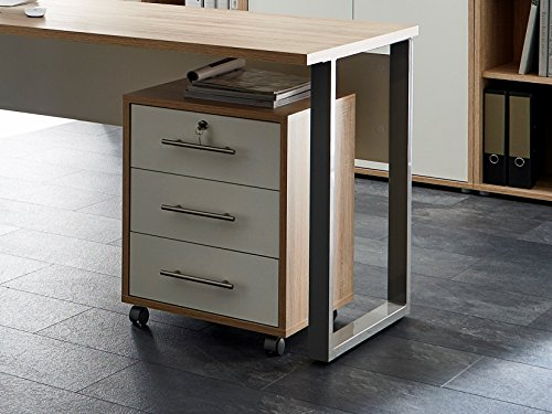 Büromöbel Arbeitszimmer Home Office komplett Set Office Edition (Set 5) in Eiche Sonoma/Weiß - Made in Germany 3