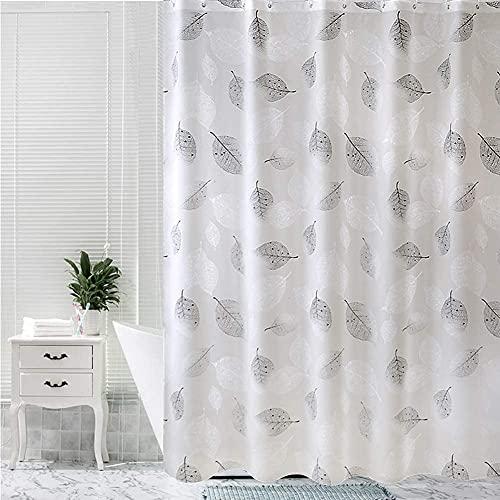 Queta Badvorhang, 180 x 180 cm Dusch- / Badvorhang mit Haken, wasserdichter / Schimmel- / antibakterieller Vorhang, maschinenwaschbarer Vorhang Wasserdichter Duschvorhang