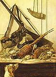JH Lacrocon Claude Monet - Trofeo di Caccia 1862 Riproduzioni Quadro Stampa su Tela Arroto...