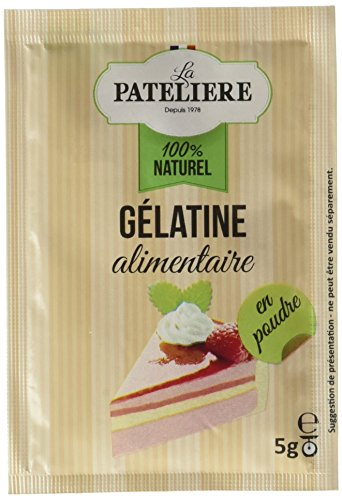 LA PATELIERE Gélatine Alimentaire Poudre 4 Sachets 20 g