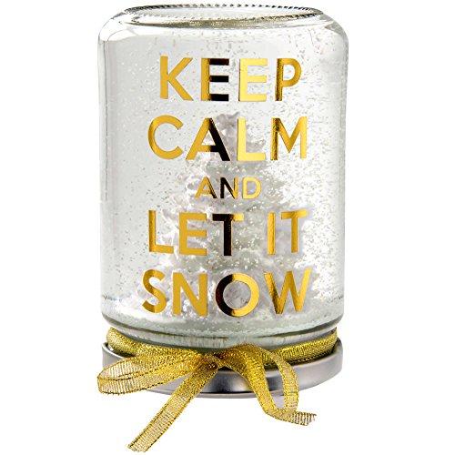 WeRChristmas Weihnachtsdekoration 13cm Keep Calm and Let It Snow Globe, Mehrfarbig