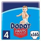 Dodot Pants Pañal - Braguita Talla 4, 165 Pañales, 9 kg - 15 kg, Pañal - Braguita Con Ajuste...