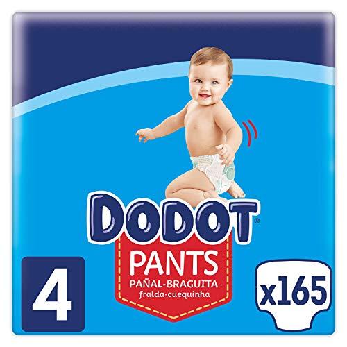 Dodot Pants - Mutandine taglia 4, 165 pannolini, 9 kg - 15 kg, pannolino - mutandine con regolazione a 360° anti-perdite