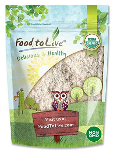 Organic Amaranth Flour, 4 Pounds - Non-GMO, Fine Ground from Whole Grains, Vegan Meal, Kosher, Bulk Powder, High in Dietary Fiber, Protein, and Selenium.