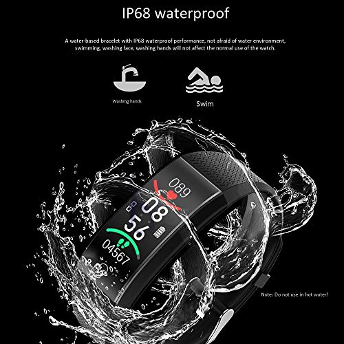 KIRA Fitness Tracker Smart Fitness Band Smart Watch Ip68 Waterproof with Sleep Monitor Calorie Counter Pedometer Watch for Men, Women and Gift Compatible Ios Android Phones