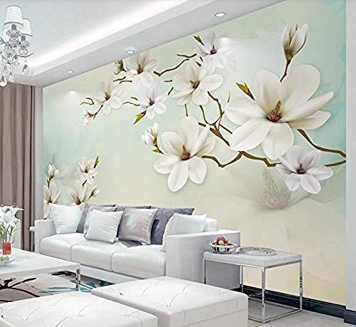 ZZXIAO Einfache und elegante Magnolienblume Badezimmertapete Schlafzimmertapete Wohnzimmerküchentapete wandpapier fototapete 3d effekt tapete Wohnzimmer Schlafzimmer Hintergrundbild-300cm×210cm