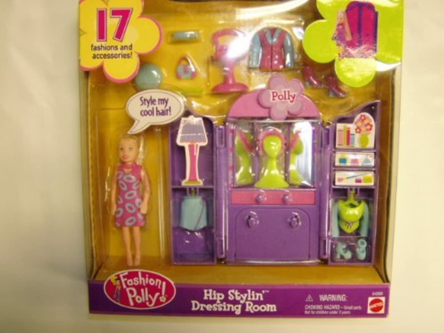 Fashion Polly Hip Stylin' Dressing Room  Polly  by Mattel