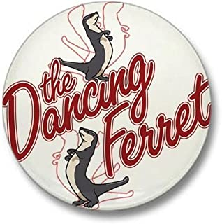 CafePress The Dancing Ferret (dark) Mini Button 1