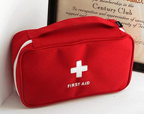 Qearly Polyester Care Plus First Aid Kit Boîte de pansement premiers secours Rouge