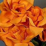 balsacircle-168-orange-velvet-open-bloom-roses-24-bushes-artificial-flowers-wedding-party-centerpieces-arrangements-bouquets-supplies