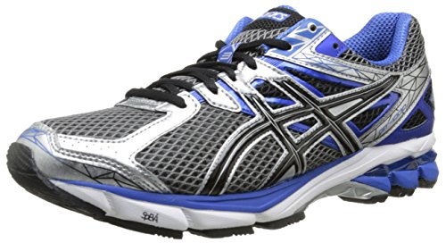 ASICS Men's GT-1000 3 4E Running Shoe,Lightning/Black/Royal,8.5 4E