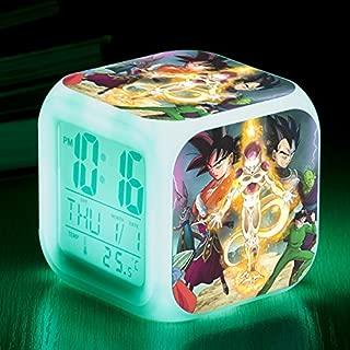 DRAGON BALL Japanese Anime Super Frieza Saiyan Seven Color Change Glowing Digital Alarm Clock