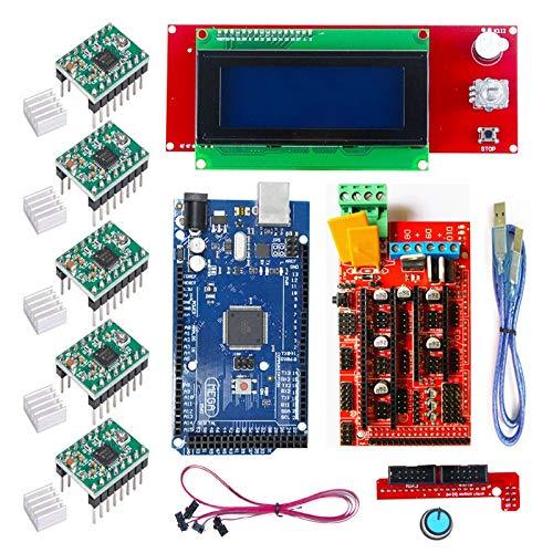 DTOYZ CNC 3D-Drucker-Kit Für Arduino m e g a 2560 R3 + Rampen 1.4 + LCD 2004 + A4988 Schrittfahrer