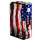 Skin Decal Vinyl Wrap for Voopoo Drag 157W TC Resin/Reg. Vape Mod stickers skins cover/ American Flag on Wood