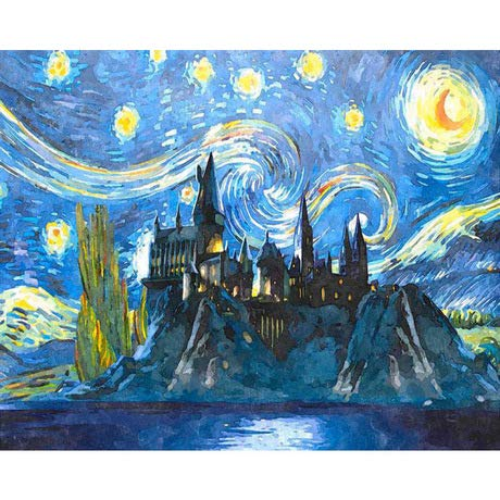TOCARE DIY Acrylic Paint by Numbers for Adults Van Gogh On Canvas16x20inches Starry Sky