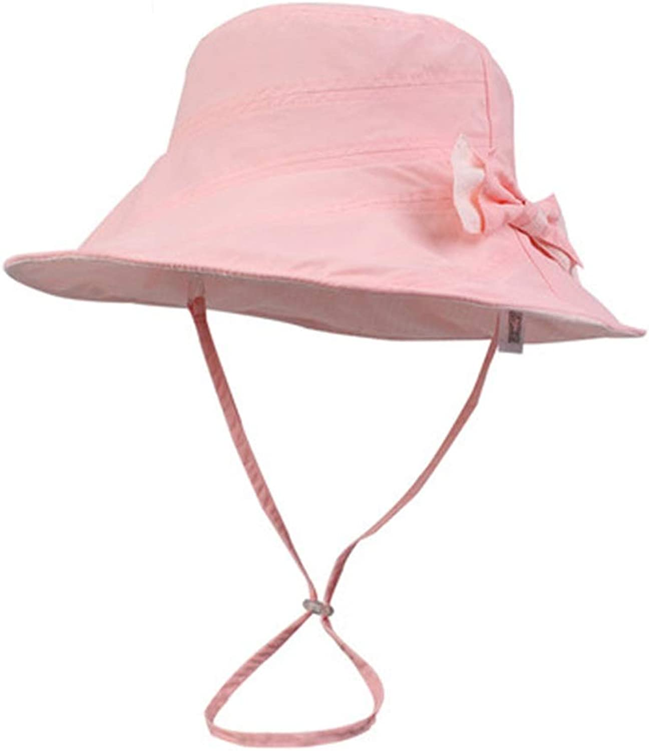 Summer Ladies Cool Hat Folding Visor Ladies Summer Sun Hat Basin Cap Female Summer Big Sun Hat (color   Pink, Size   57.5cm)
