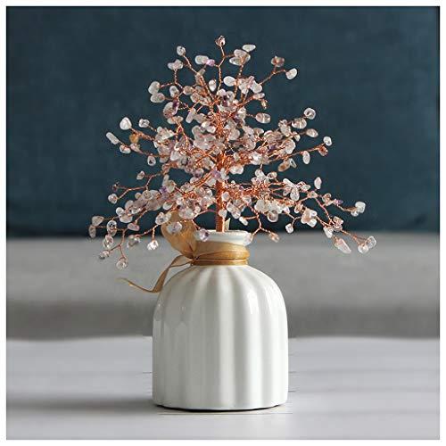 Dinero Árbol Cristales Mini piedra curativo Bonsai árbol del dinero (siete colores) de colores Feng Shui for la buena suerte Adornos Riqueza Home Office Decor regalos estreno de...