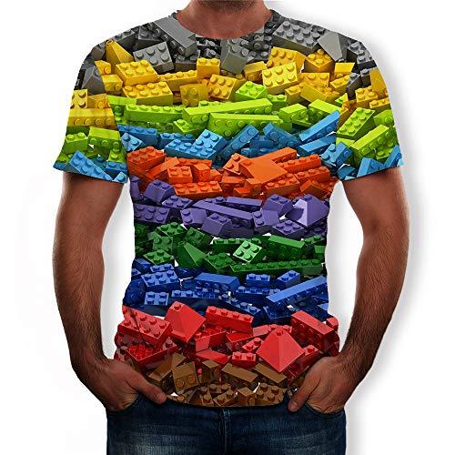 Funny Novelty T-shirt, Mens 3D Katoenen T-shirts Tops Tees Summer Blouse Designer voor Heren shirts Kleren,A2,XXXXXXL