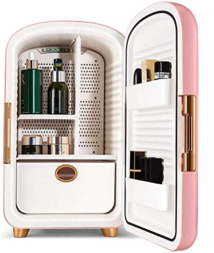 SUOMO Refrigerador doméstico Mini Nevera de Belleza, Armario de enfriamiento cosmético de 12 litros Maquillaje Profesional para niños Refrigerador de Ruido de bajo Ruido Regalos para Mujer