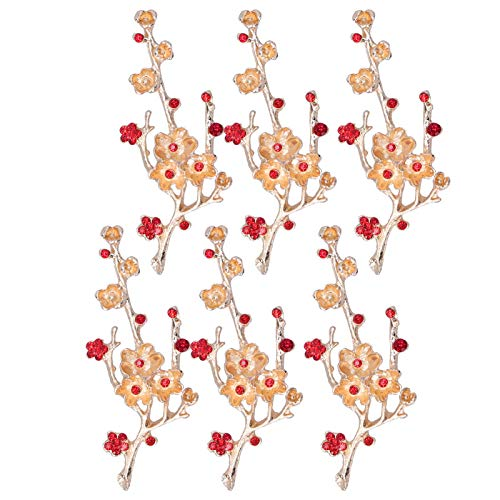 Decoración de ropa, 6 piezas de broche con forma de flor, broche de diamantes de imitación DIY para zapatos, decoración de joyería(1)