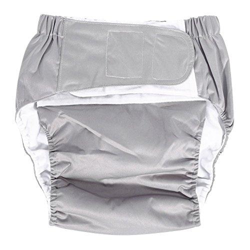 Windelhosen gegen Inkontinenz für Erwachsene, verstellbare Schicht aus Stoff, waschbar, wiederverwendbar, Inkontinenz-Hygieneartikel für ältere Menschen, Größenpalette 52–108cm